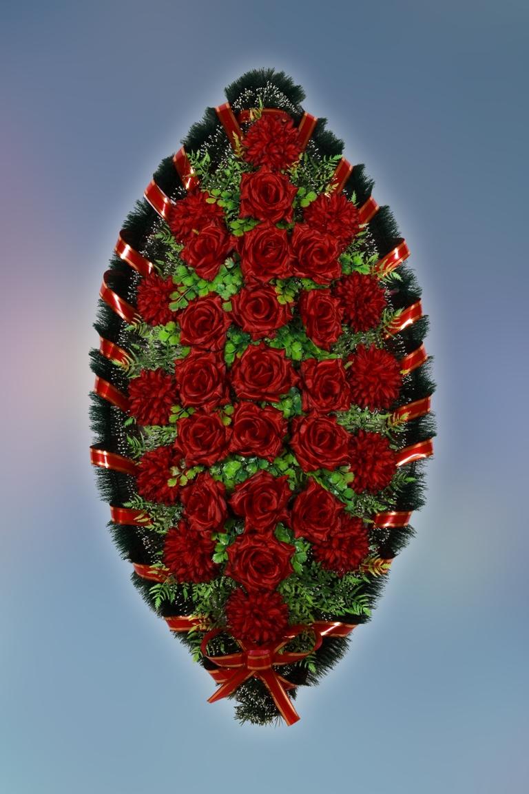 Изготовить венок из искусственных цветов своими руками